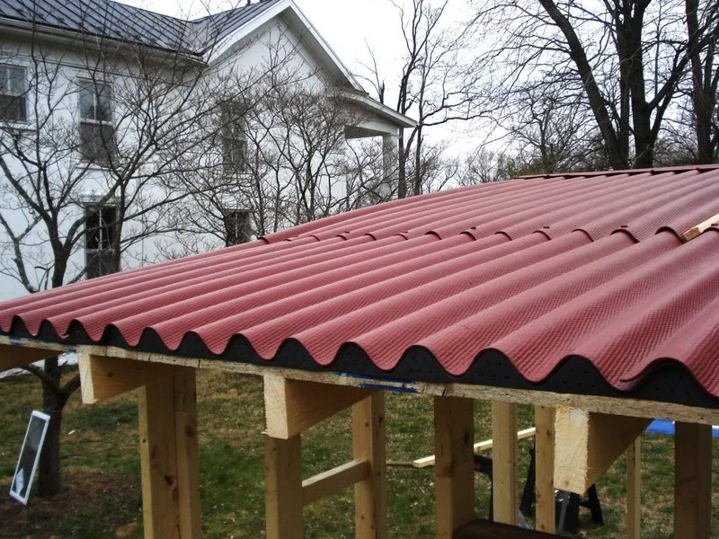 Image of: Corrugated Fiberglass Roofing Ideas