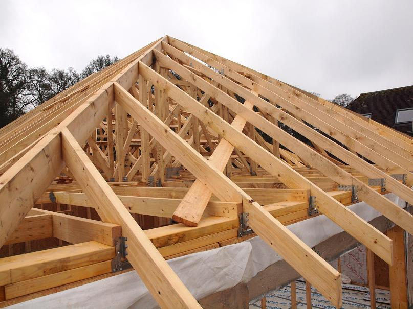 Image of: Cute Building Roof Trusses