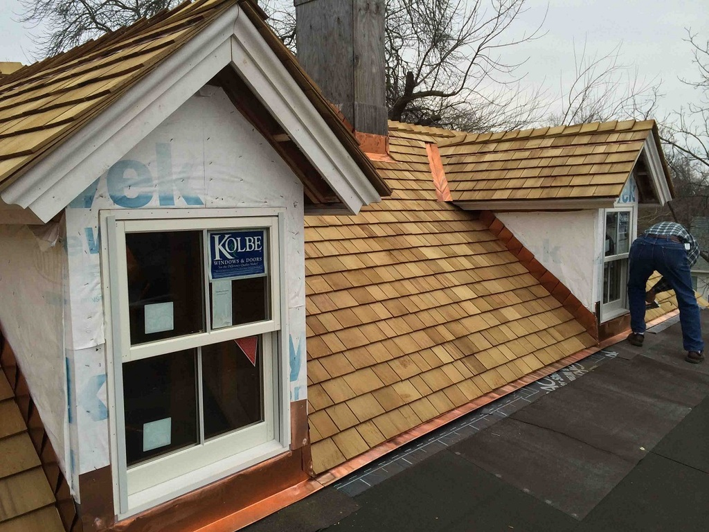 Image of: Thick Copper Roof Flashing