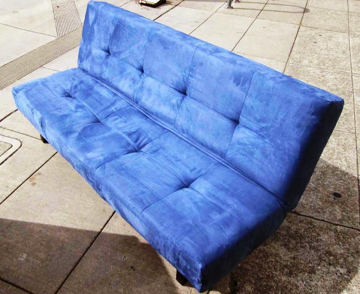 Image of: Futon IKEA Blue
