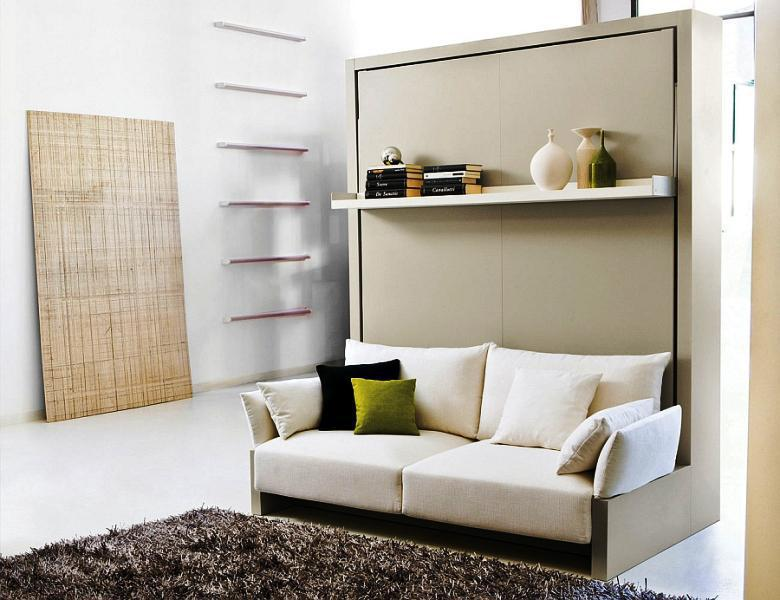 Image of: Transformable Fold Down Futon IKEA Murphy Bed System