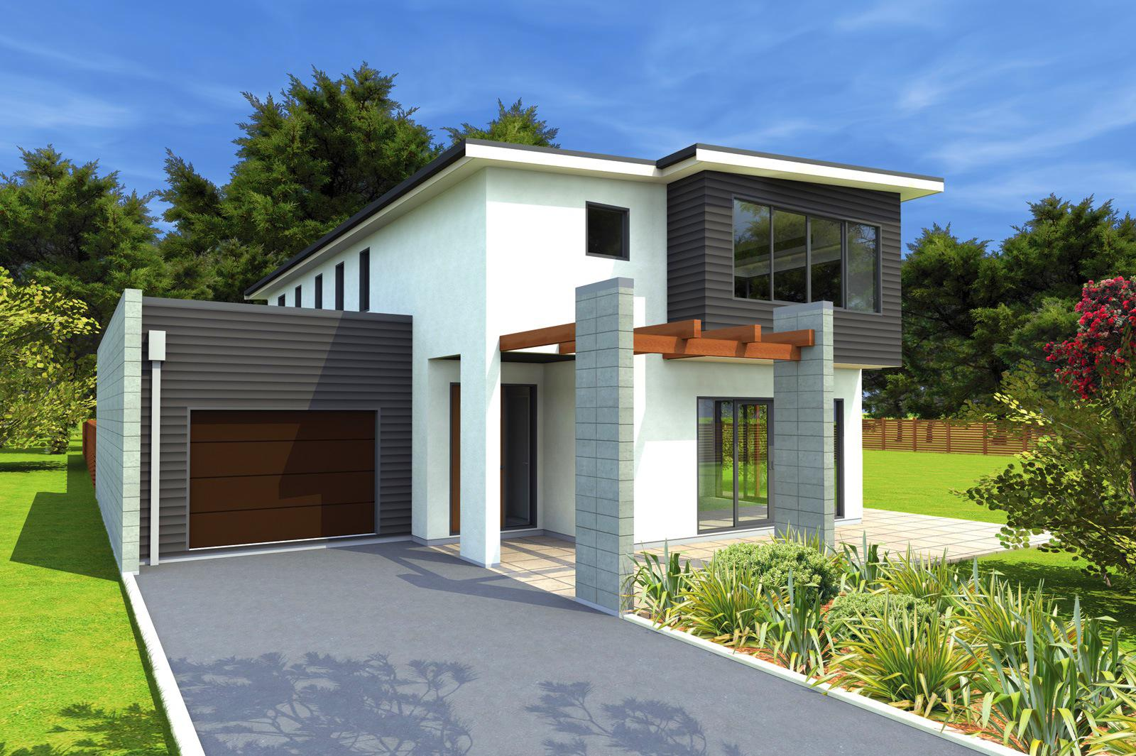 Image of: Attractive Small Modern House Plans
