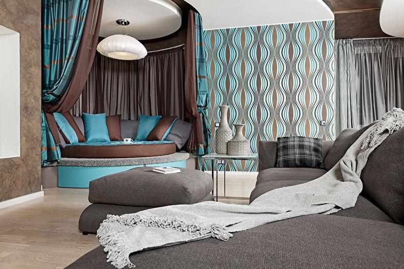 Image of: Attractive Turquoise And Brown Bedroom Ideas