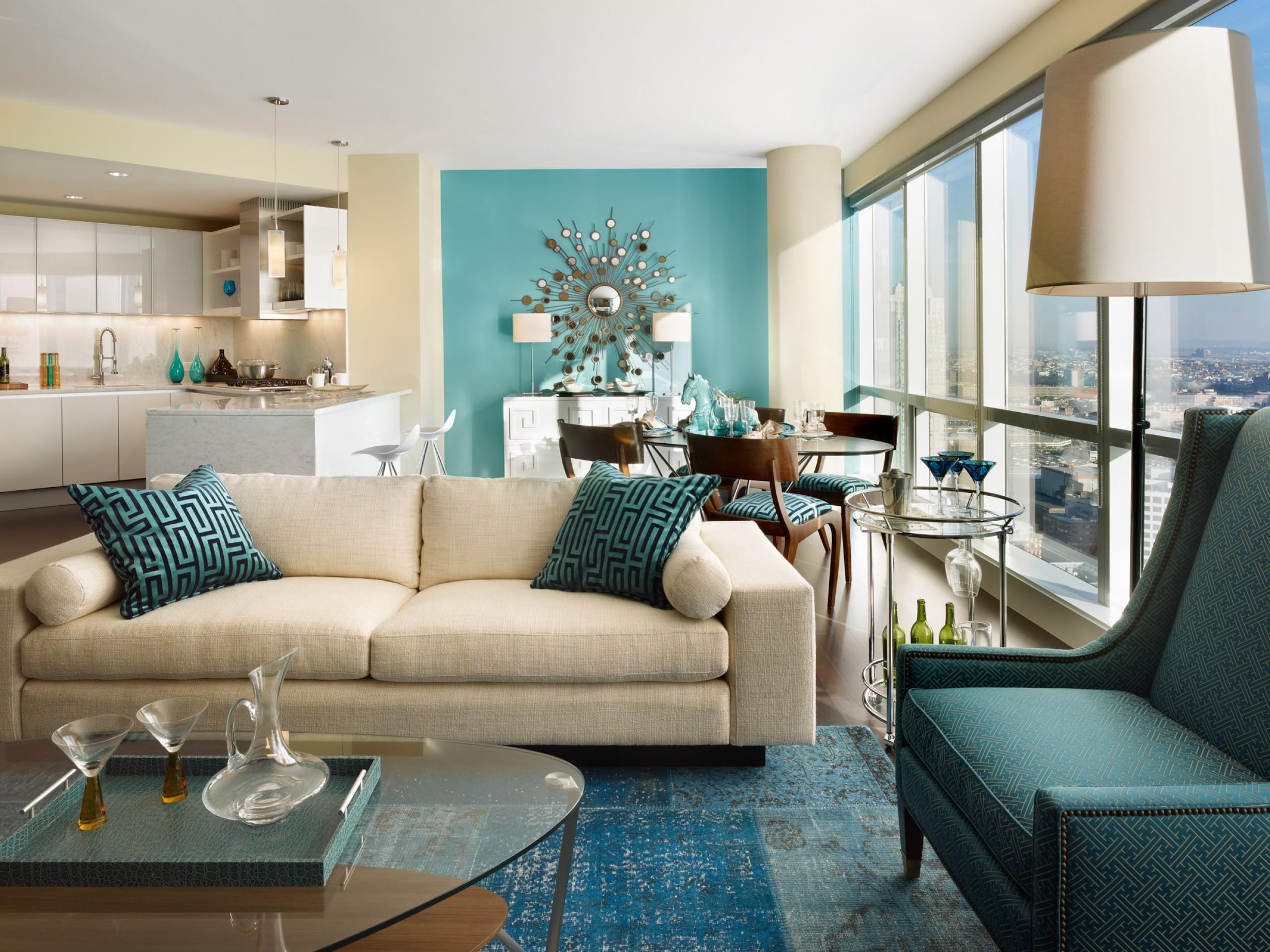 Image of: Attractive Turquoise Interior Design Ideas