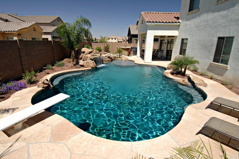 Image of: Awesome Backyard Swimming Pools