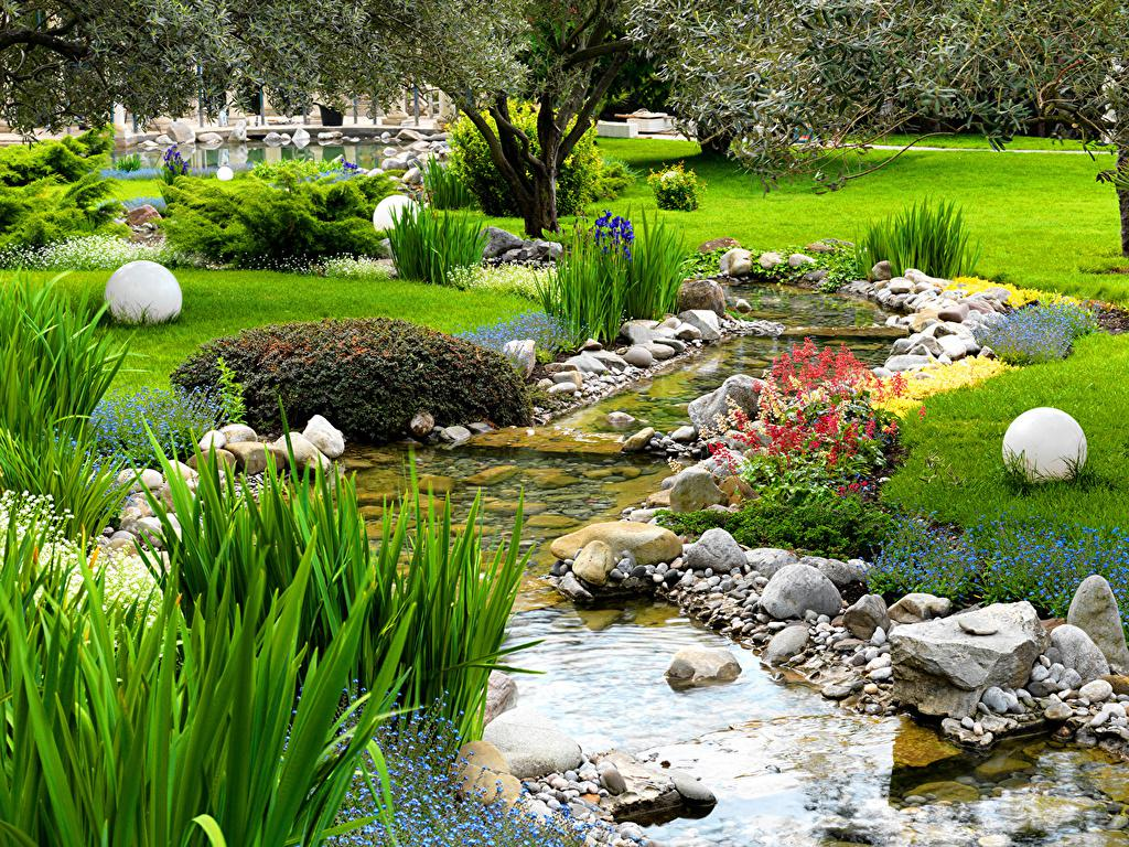 Image of: Awesome Natural Garden Design