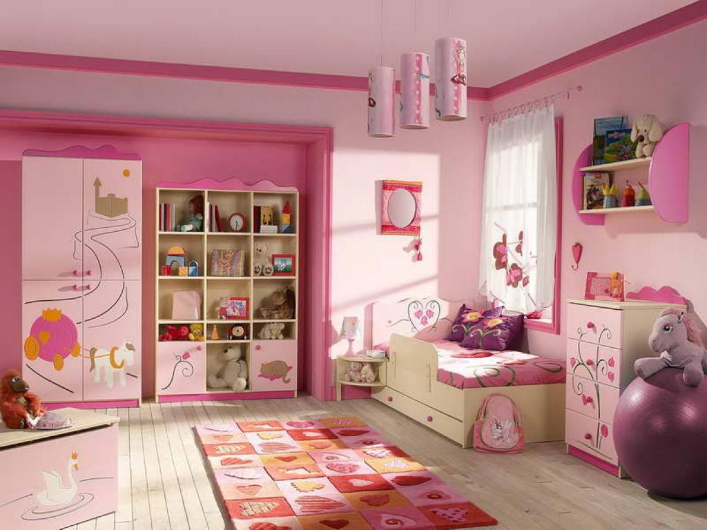 Image of: Awesome Pink Girls Room
