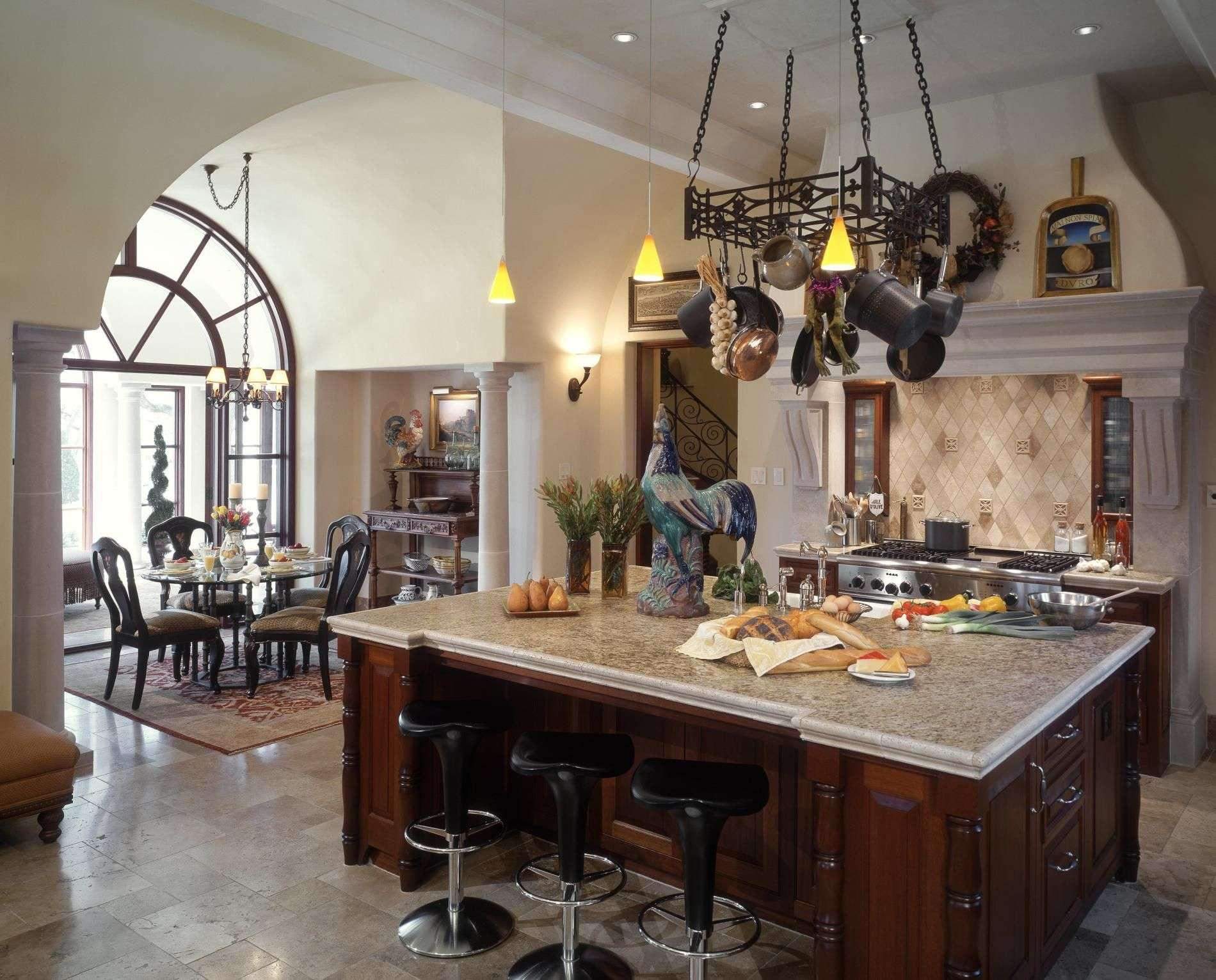Image of: Awesome Rustic Italian Kitchen