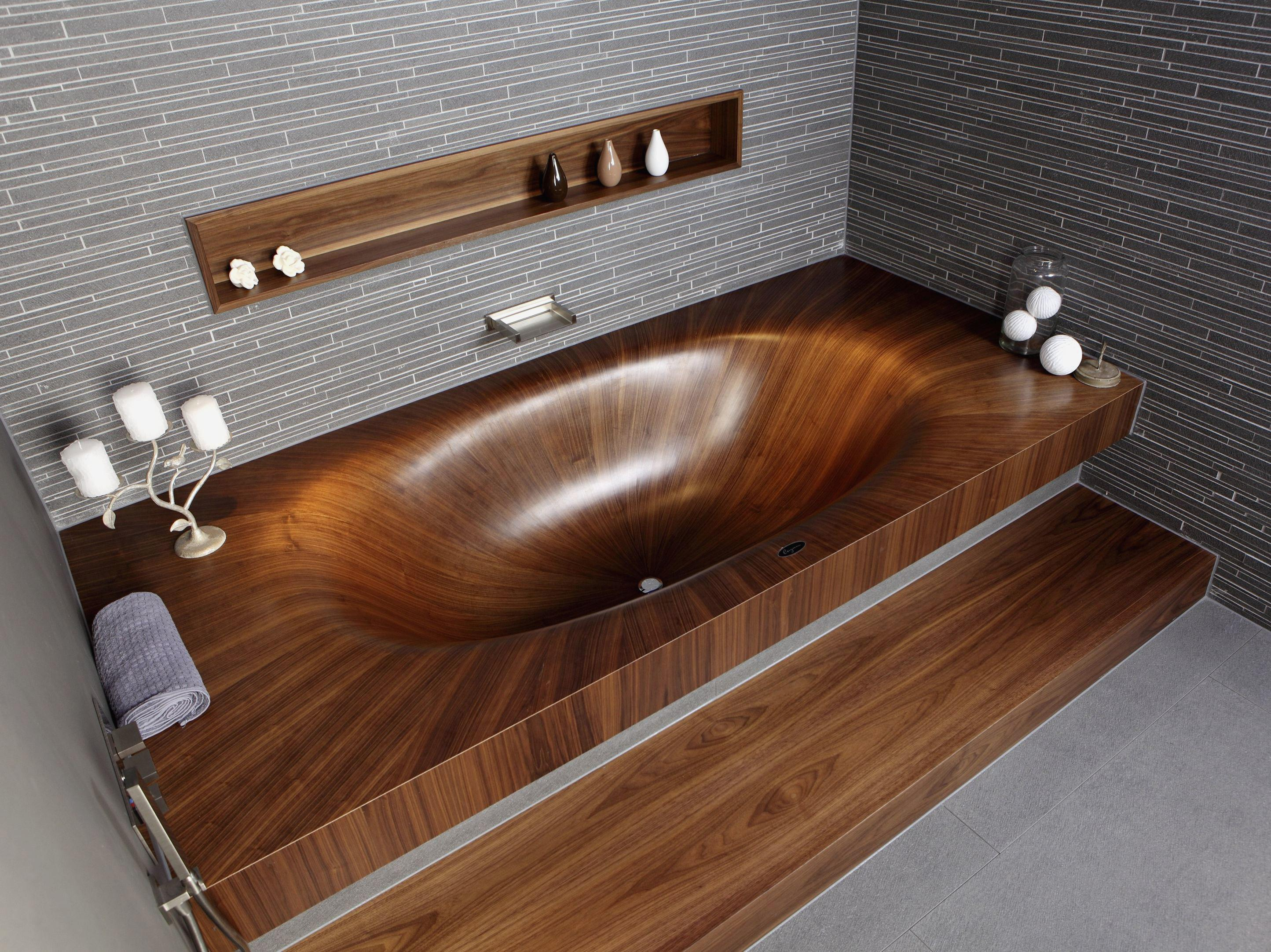 Image of: Awesome Wooden Bathtub Ideas