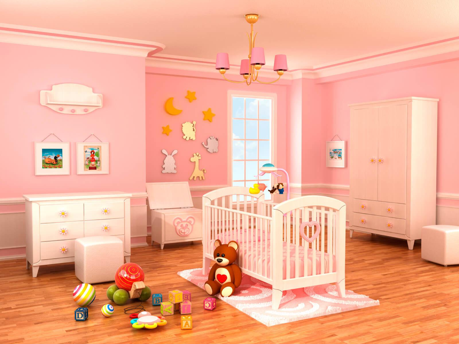 Image of: Baby Girl Room Colors