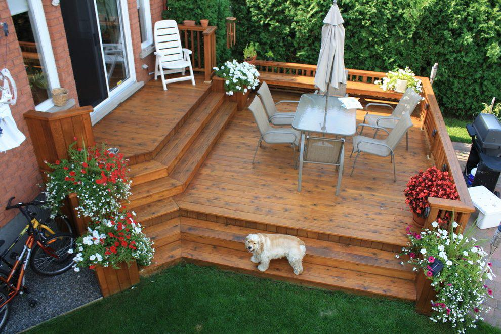 Image of: Backyard Deck Ideas And Plans