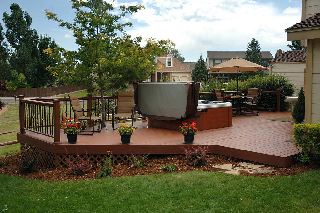 Image of: Backyard Deck Ideas On A Budget