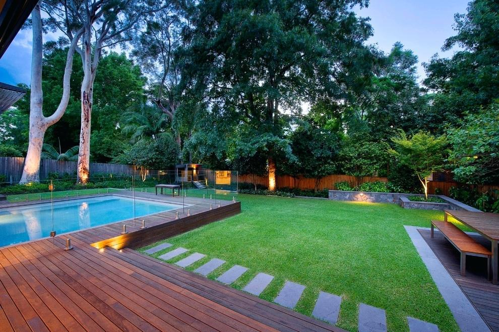 Image of: Backyard Ideas With Swimming Pool Design