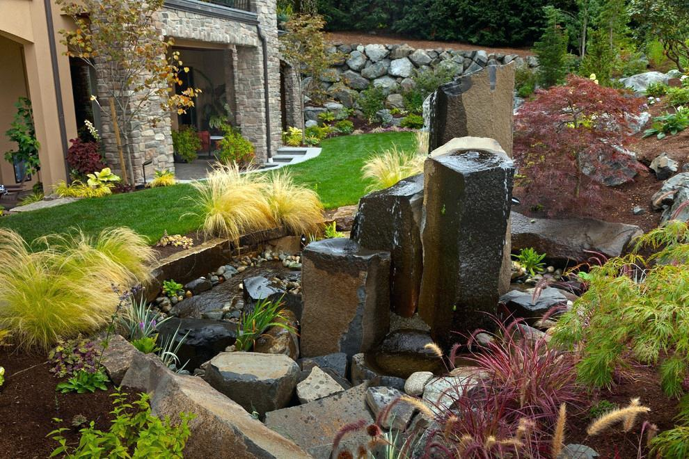 Image of: Backyard Rock Water Fountains