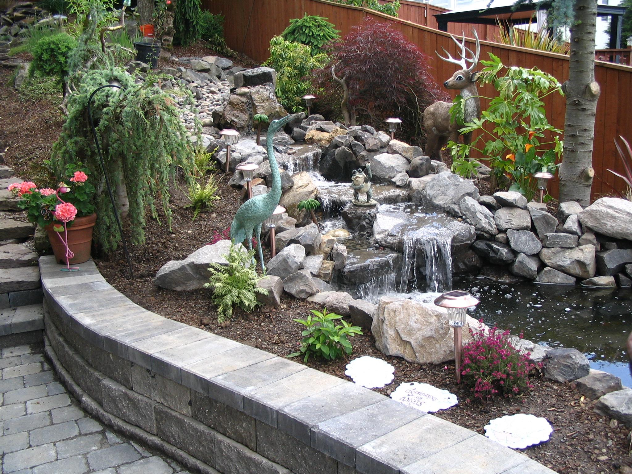 Image of: Backyard Water Features For Small Yards