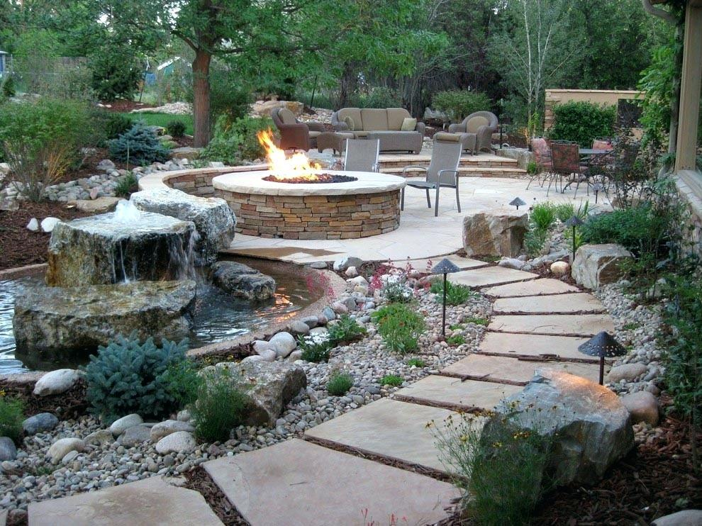 Image of: Backyard Water Features Pictures