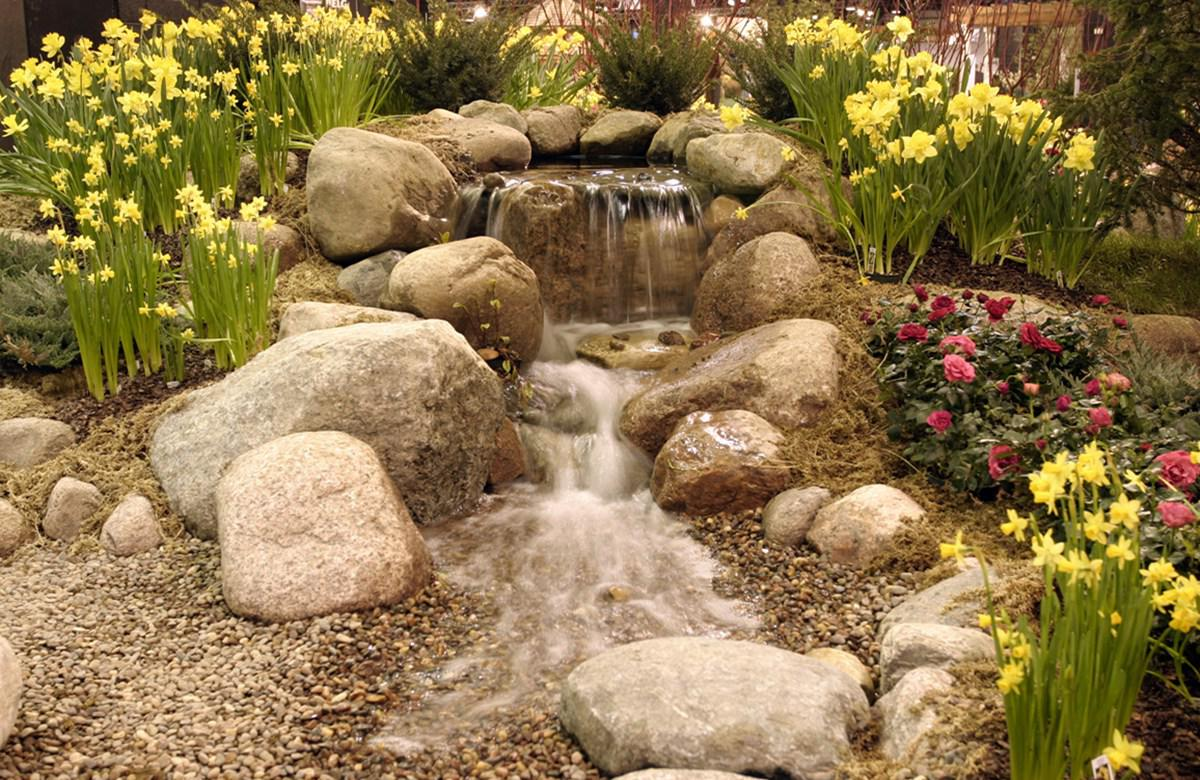 Image of: Backyard Water Features Small