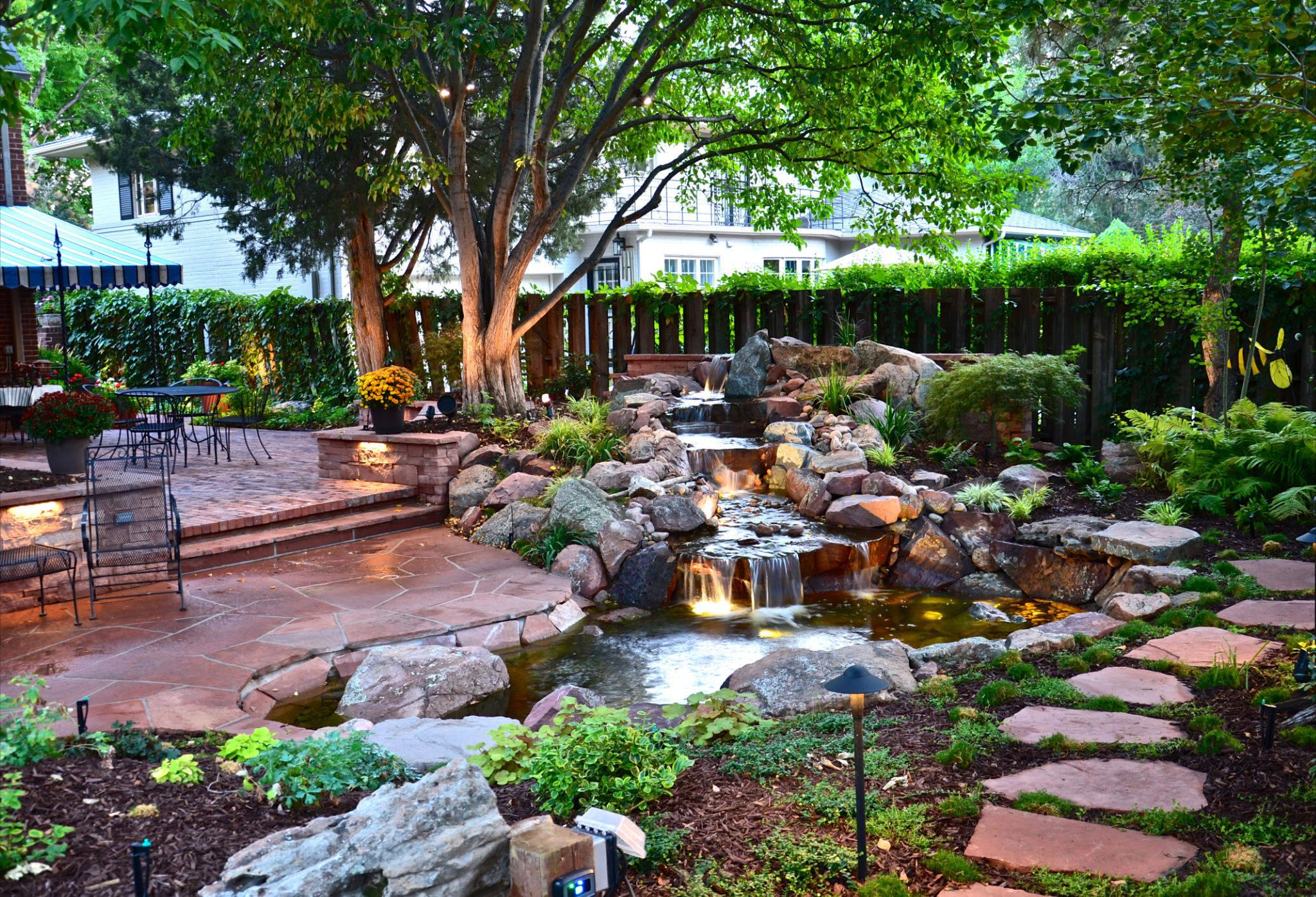 Image of: Backyard Water Features