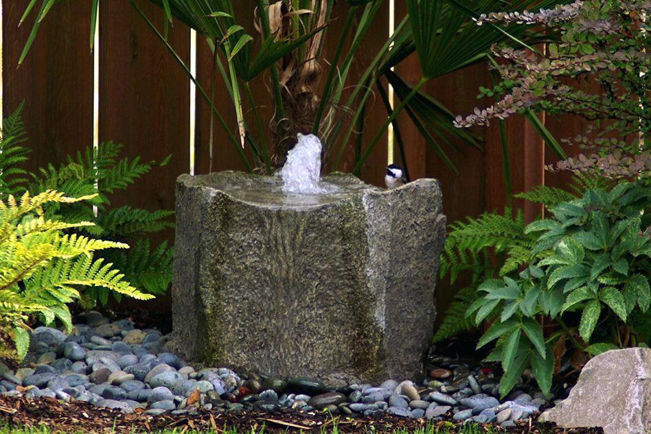 Image of: Backyard Water Fountains Diy