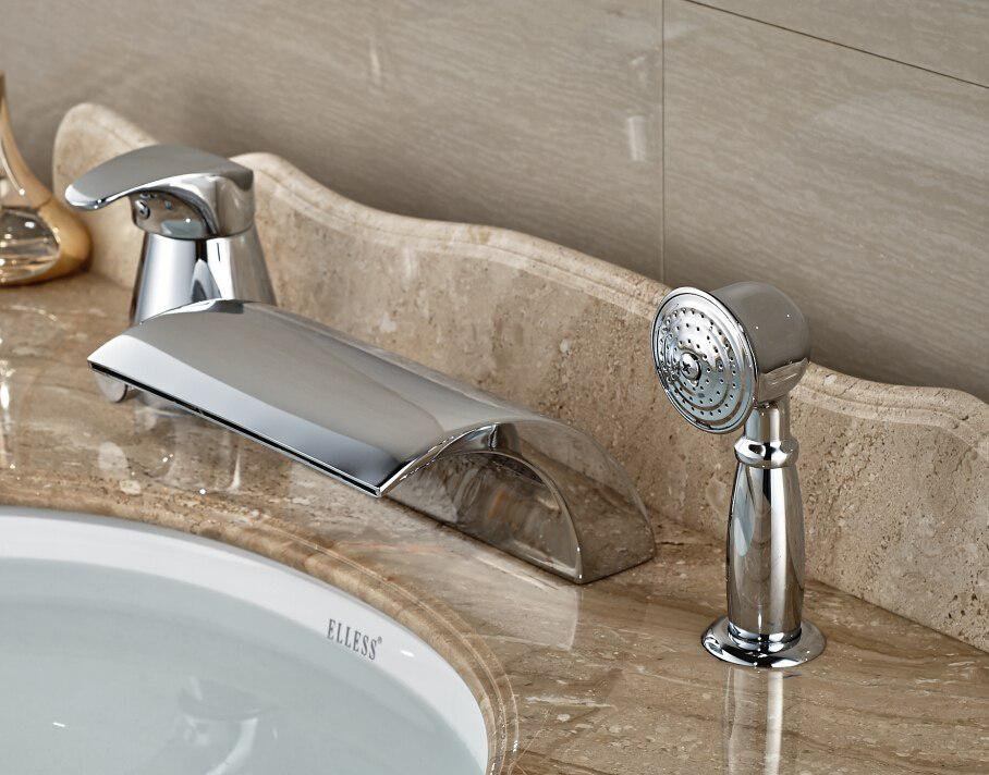 Image of: Bath Taps Waterfall