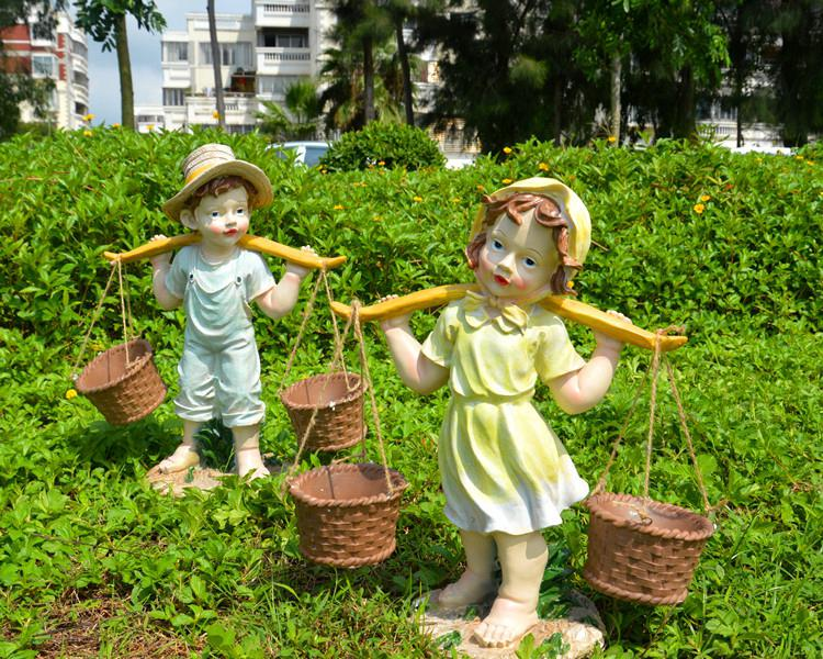 Image of: Beauty Children Garden Ornaments