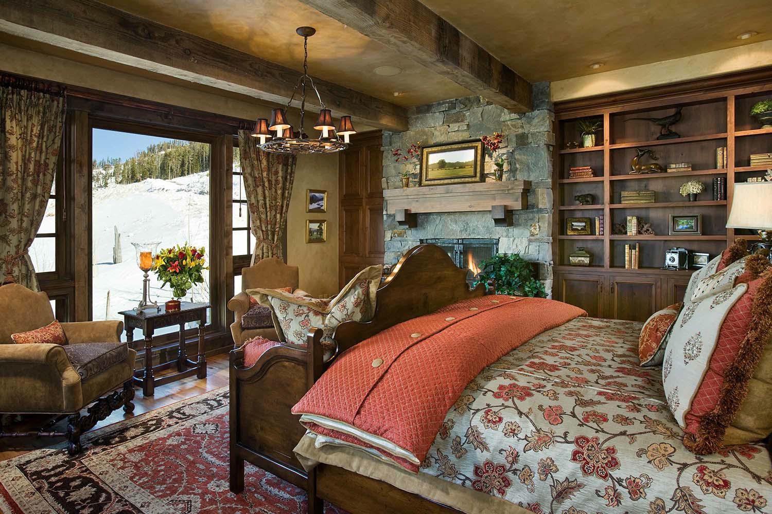 Image of: Bedroom Country home interiors