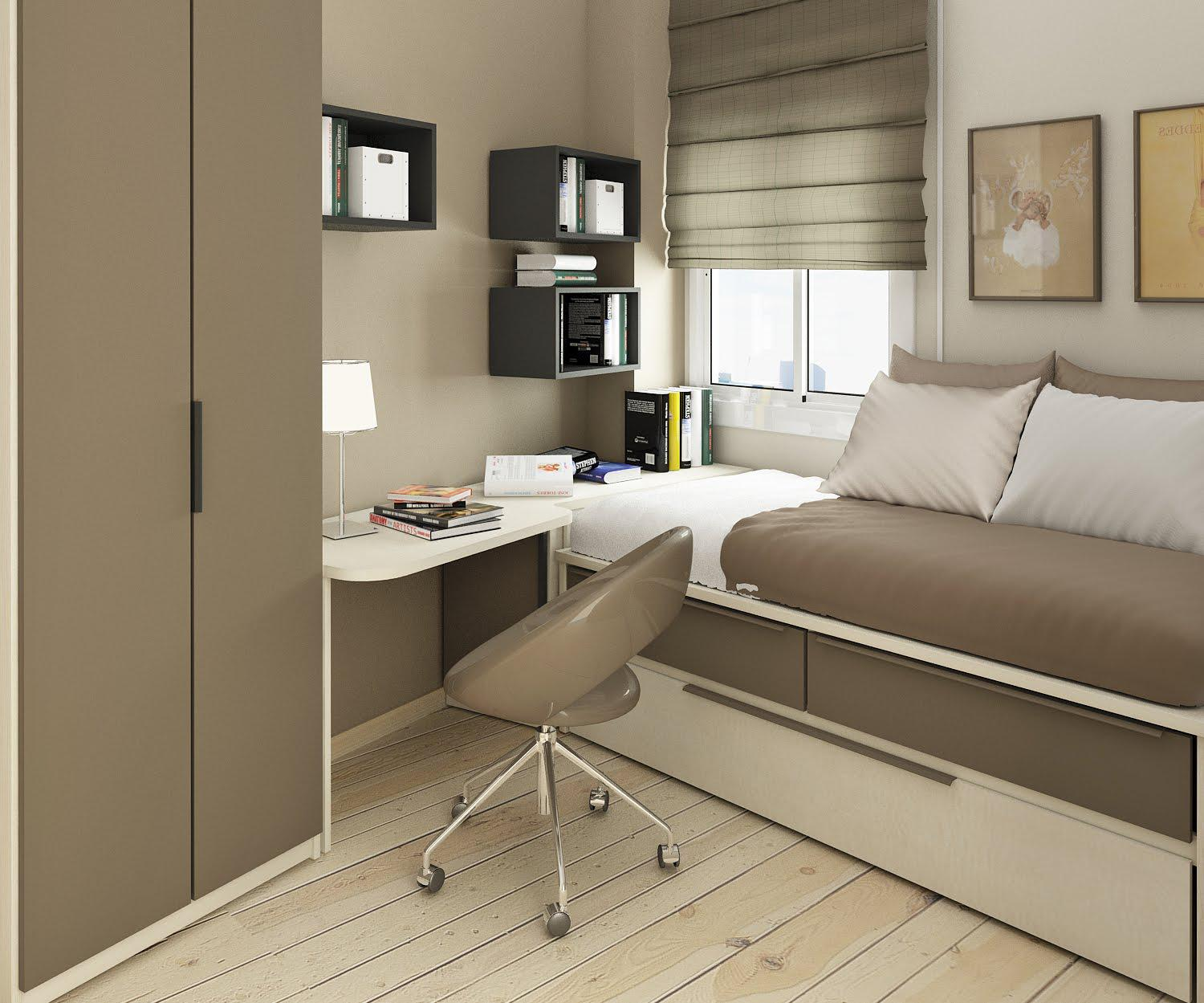 Image of: Bedroom Small Spaces