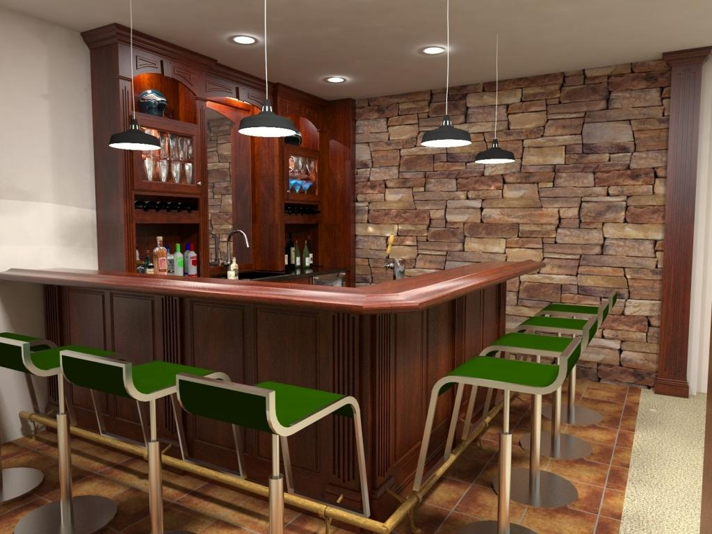 Image of: Best Bar Counter Designs For Home