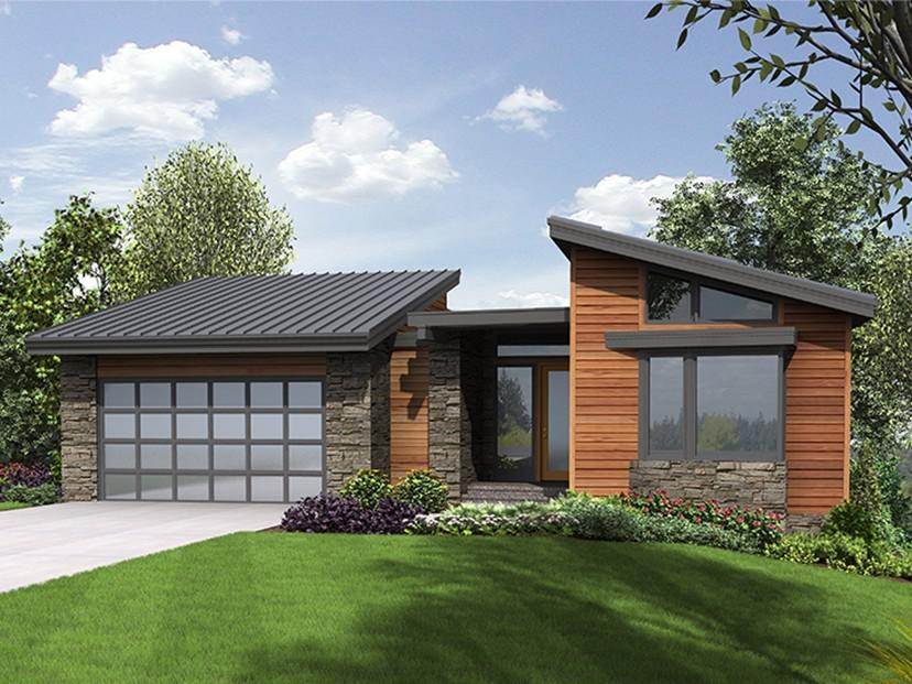 Image of: Best Small Modern House Plans