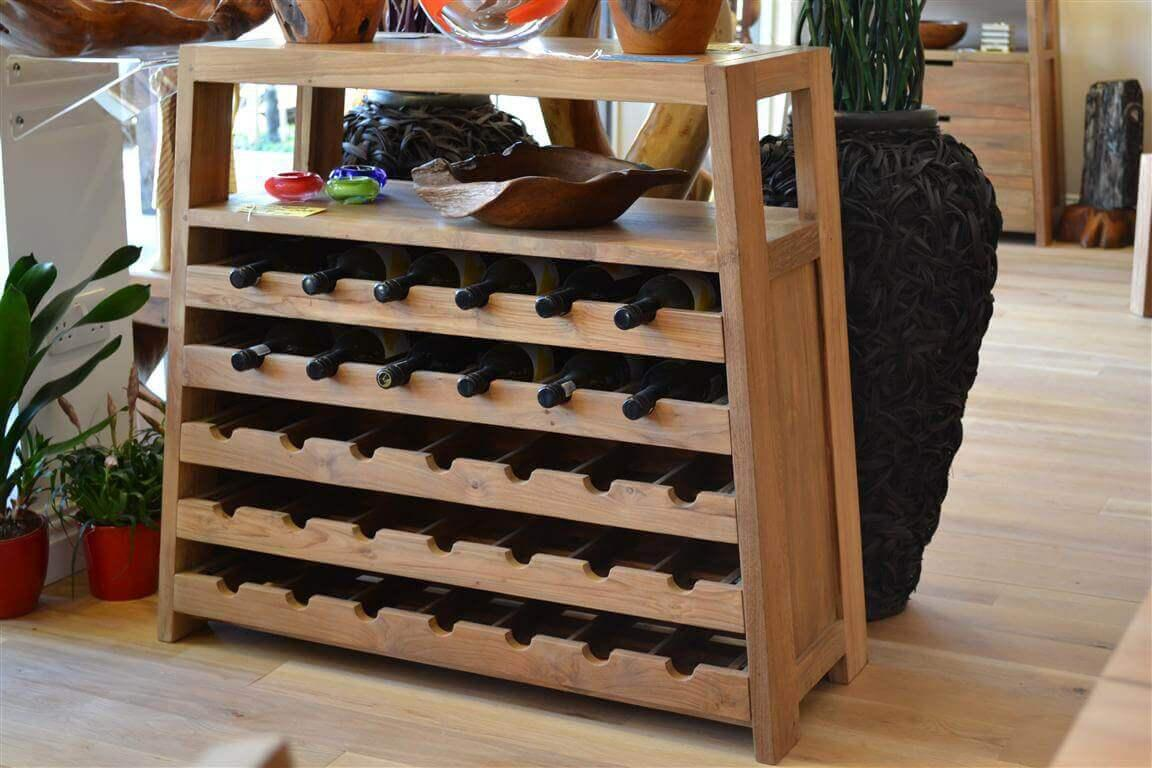 Image of: Best Wine Unique Rack Ideas