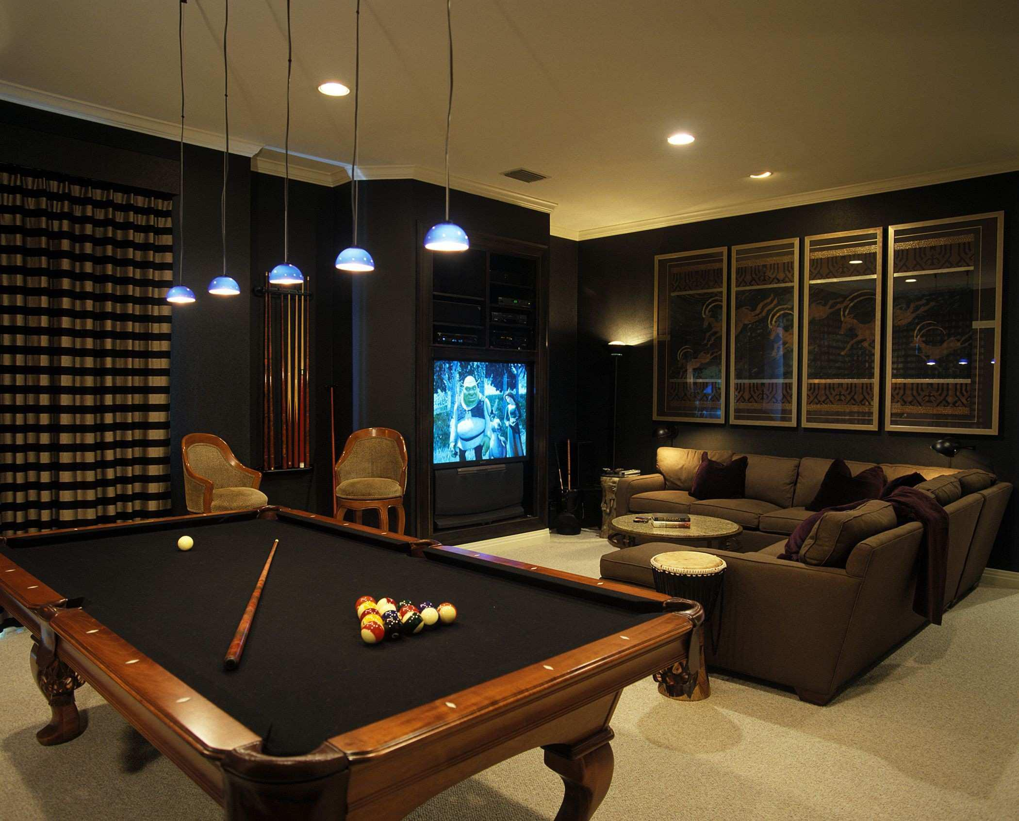 Image of: Billiard Room Accessories