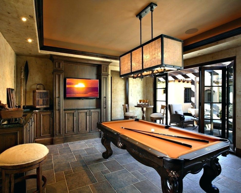 Image of: Billiard Room Decor Interior Design