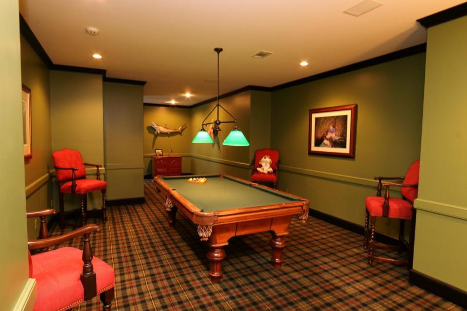 Image of: Billiards Room Decorations Ideas