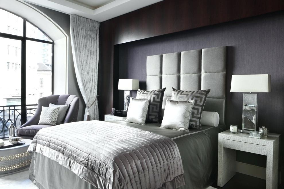 Image of: Black And Silver Bedroom Decorating Ideas
