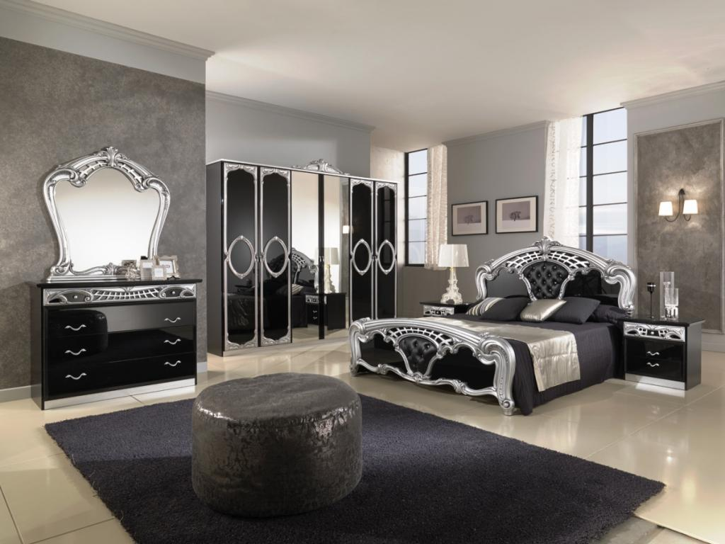 Image of: Black And Silver Bedroom Design Ideas