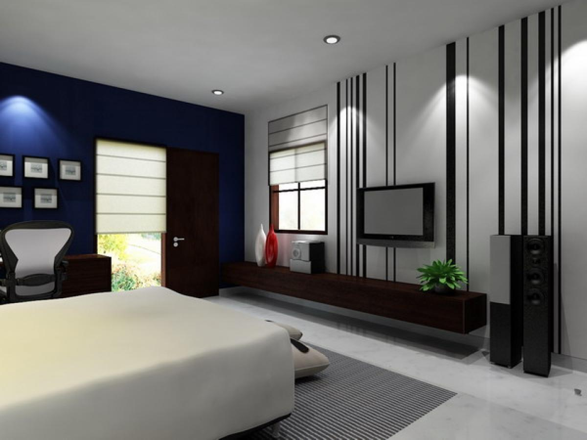 Image of: Black And White Bedroom Wall Designs