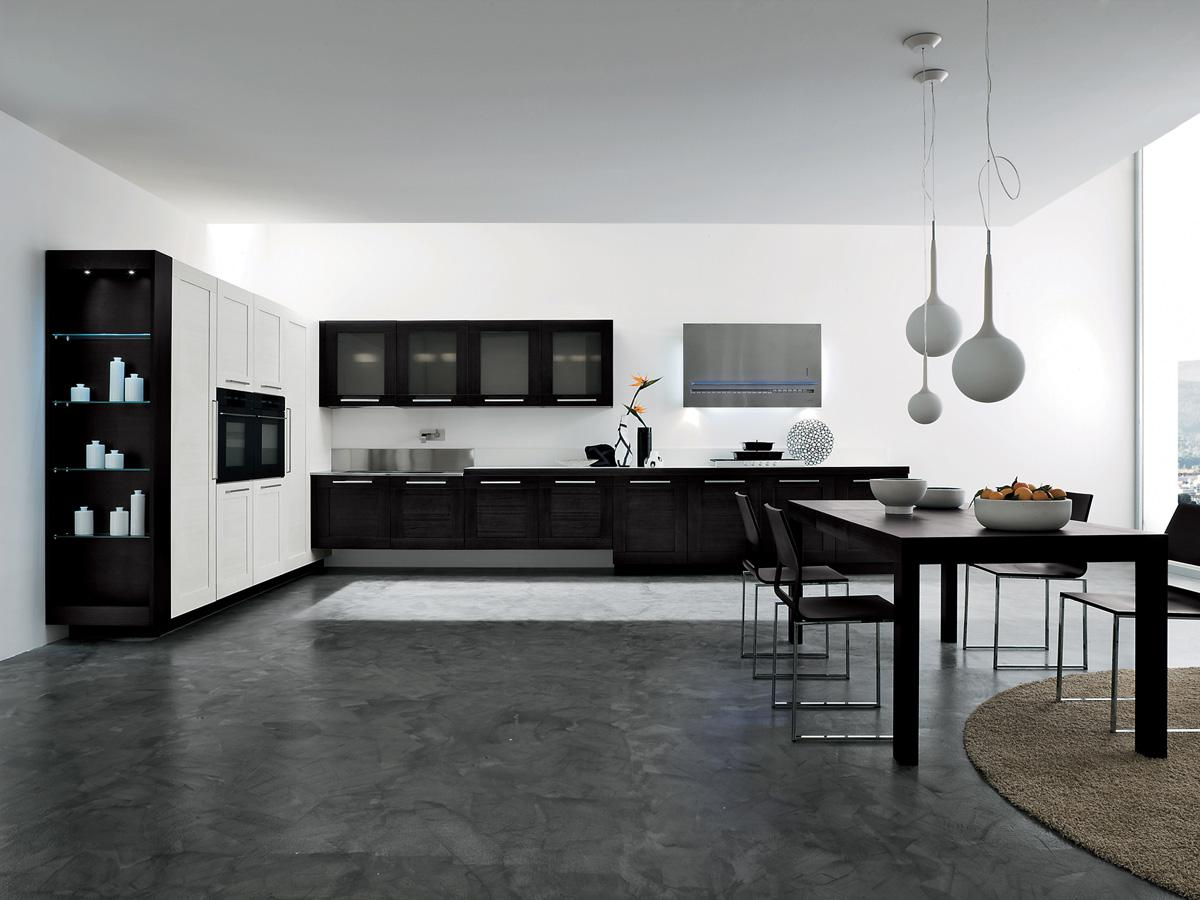 Awesome Black And White Kitchen Idea