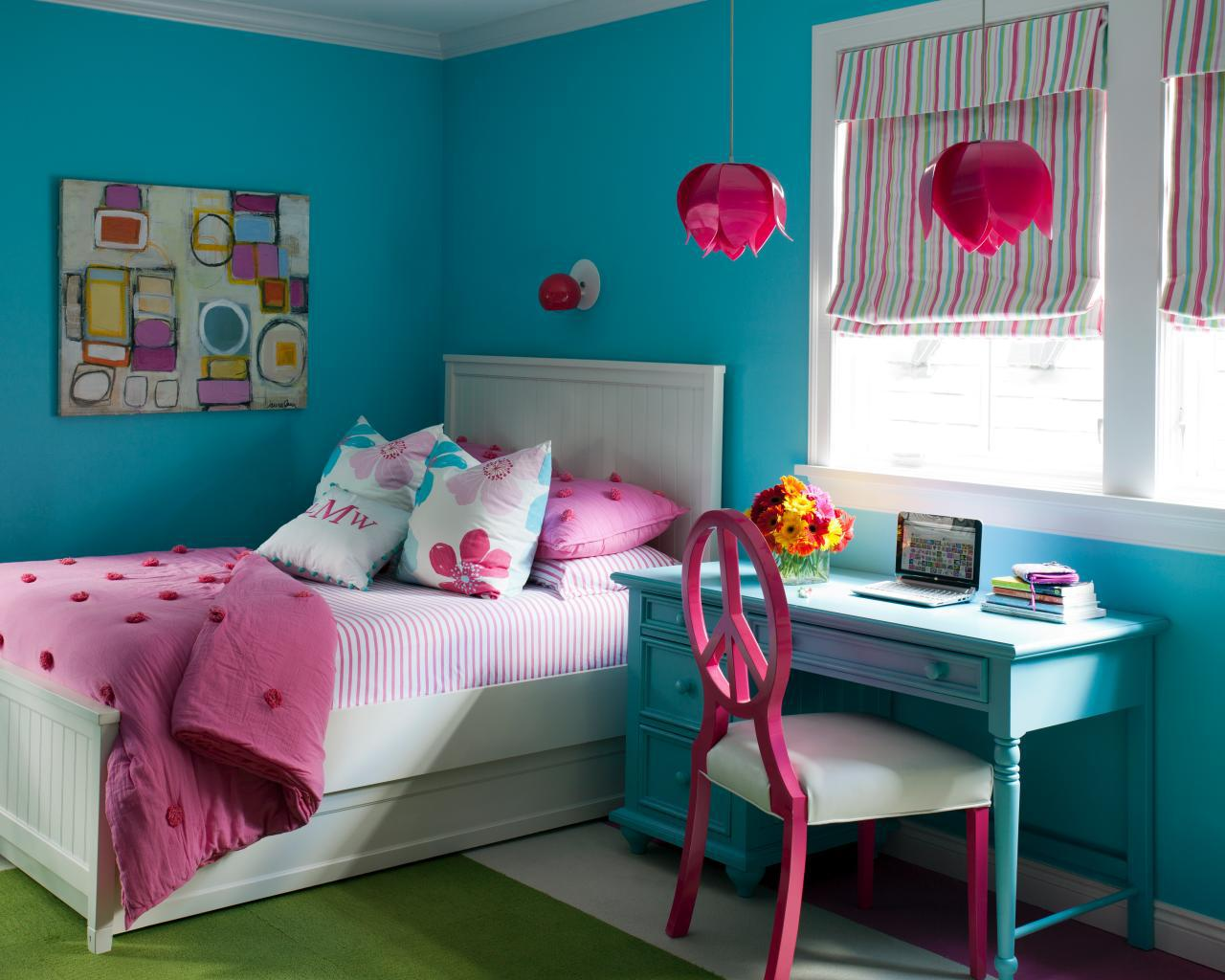Image of: Blue And Pink Bedroom