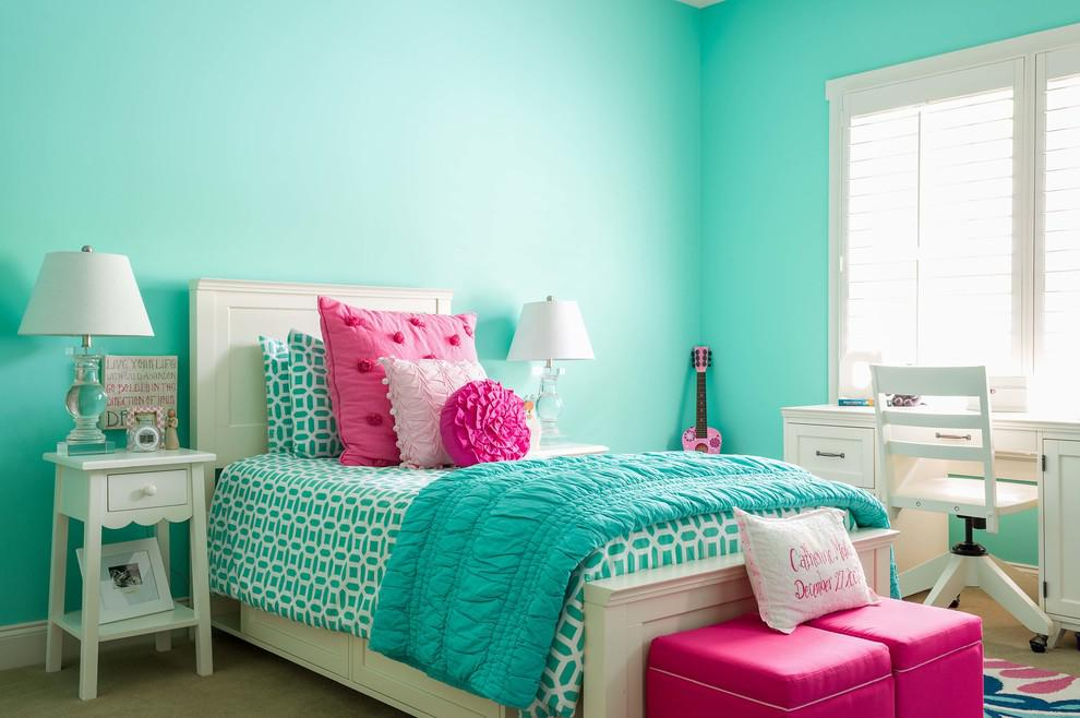 Image of: Blue And Pink Combination Bedroom