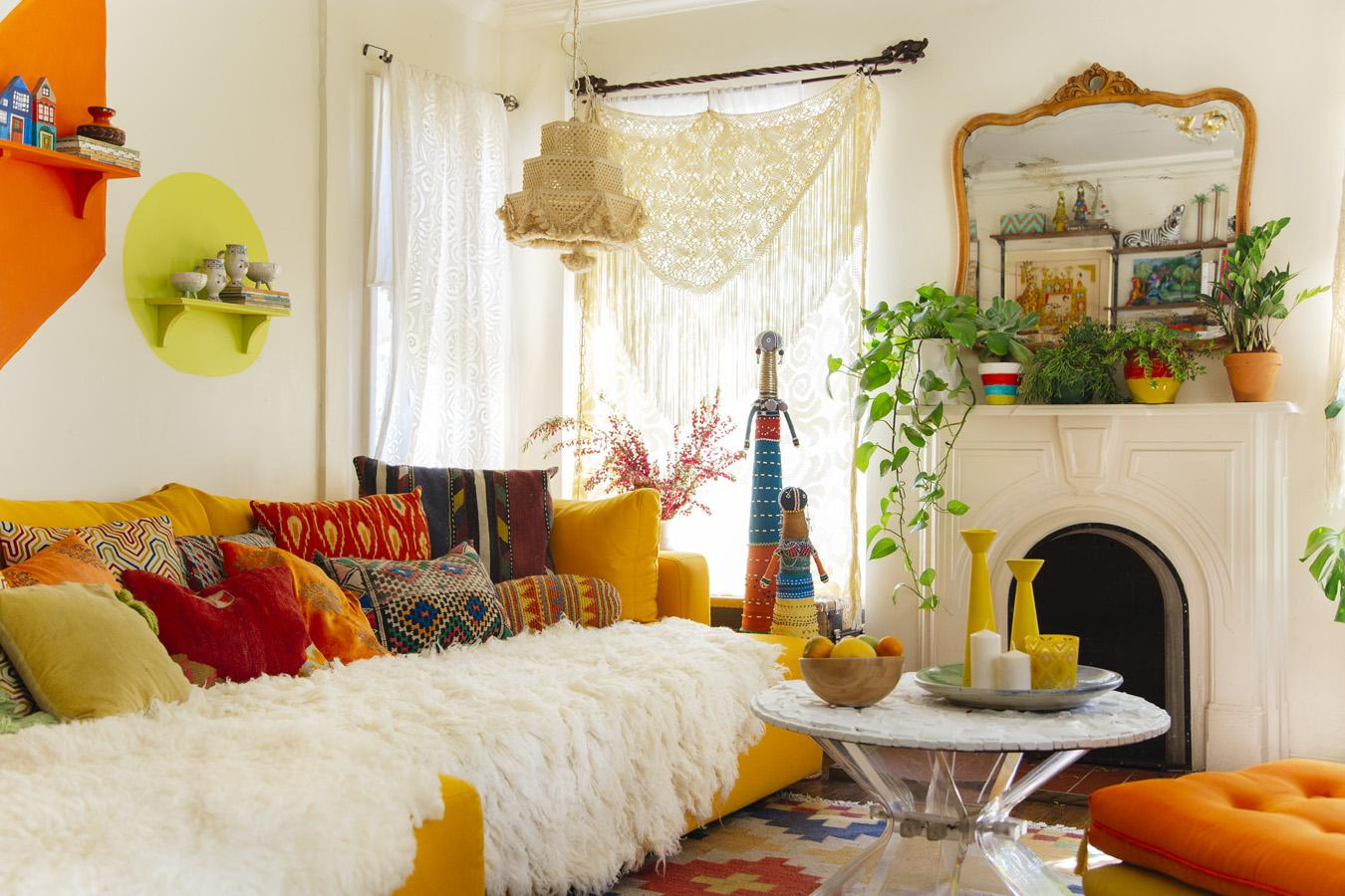 Image of: Bohemian Style Decor Living Room