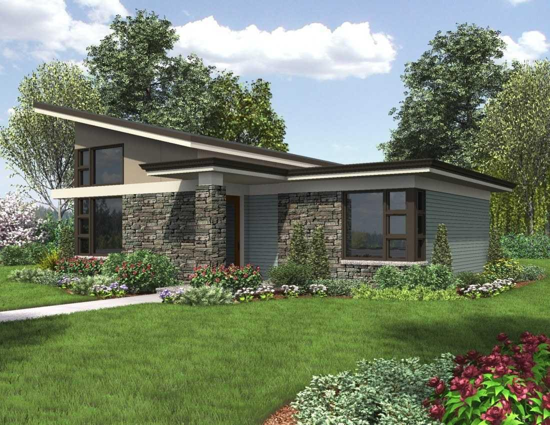 Image of: Charming Small Modern House Plans