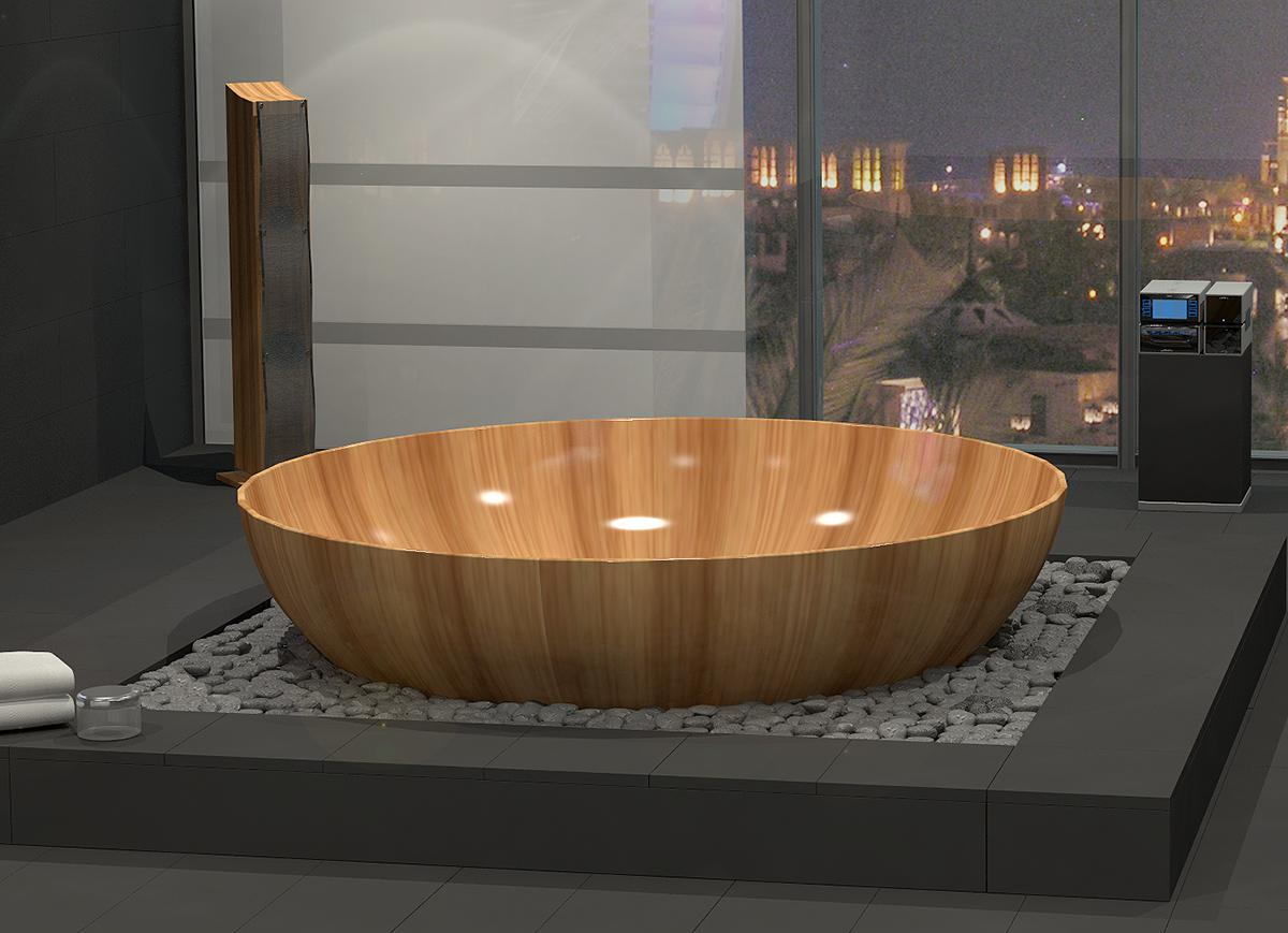 Image of: Charming Wooden Bathtub Ideas