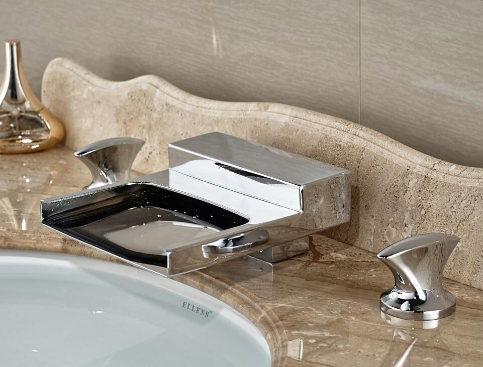 Image of: Chrome Bathroom Faucets Lowes