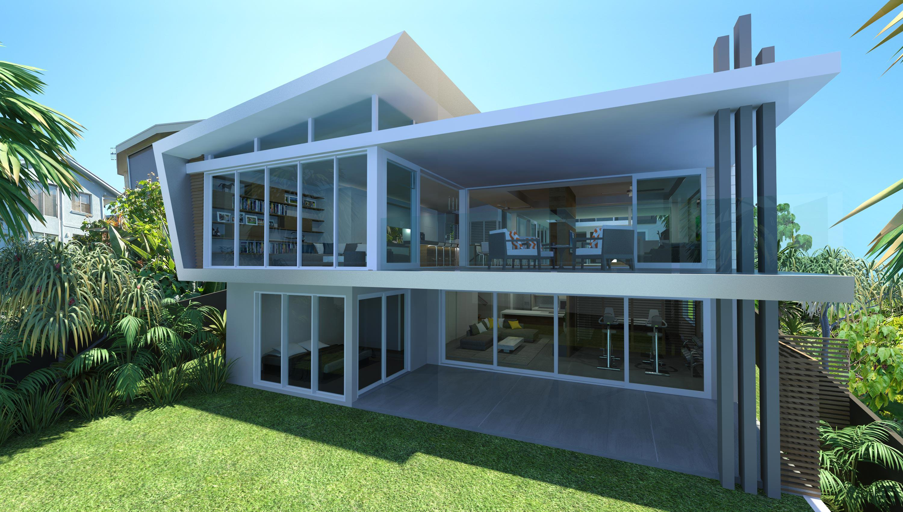 Image of: Contemporary Beach House Designs