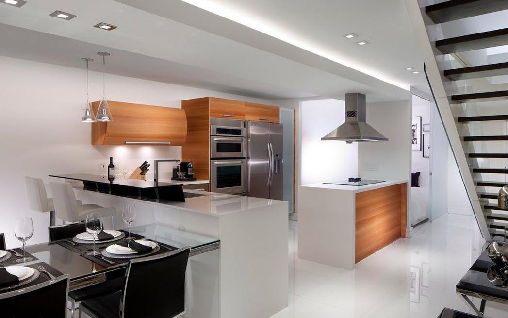 Image of: Contemporary Kitchen Design For Small Spaces