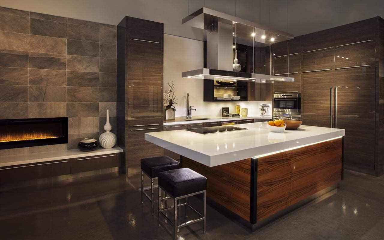Image of: Contemporary Kitchen Design For Small Space
