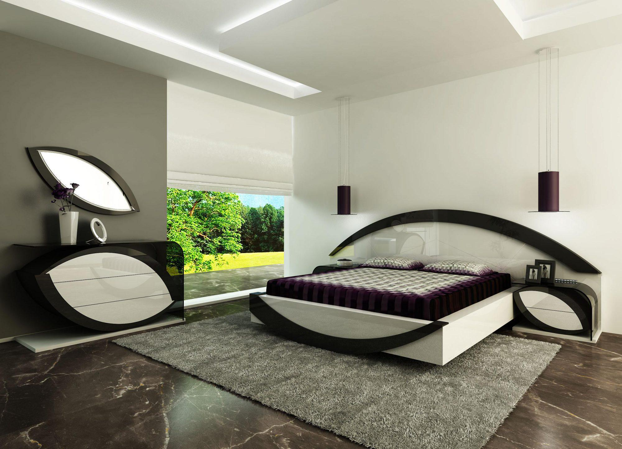 Image of: Cool Modern Bed Designs