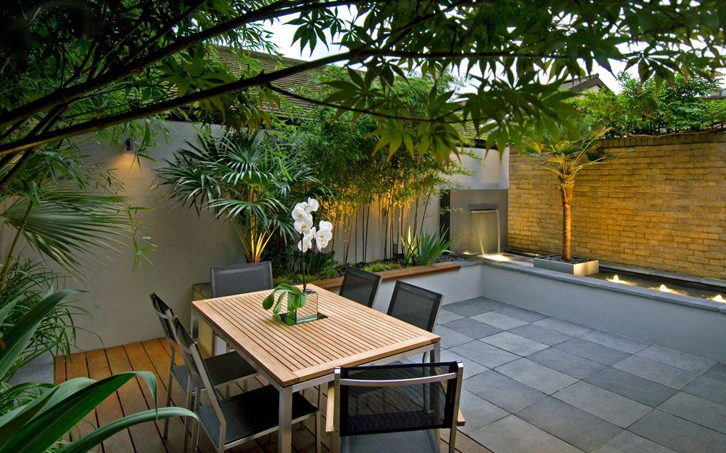 Image of: Courtyard Garden Design Images