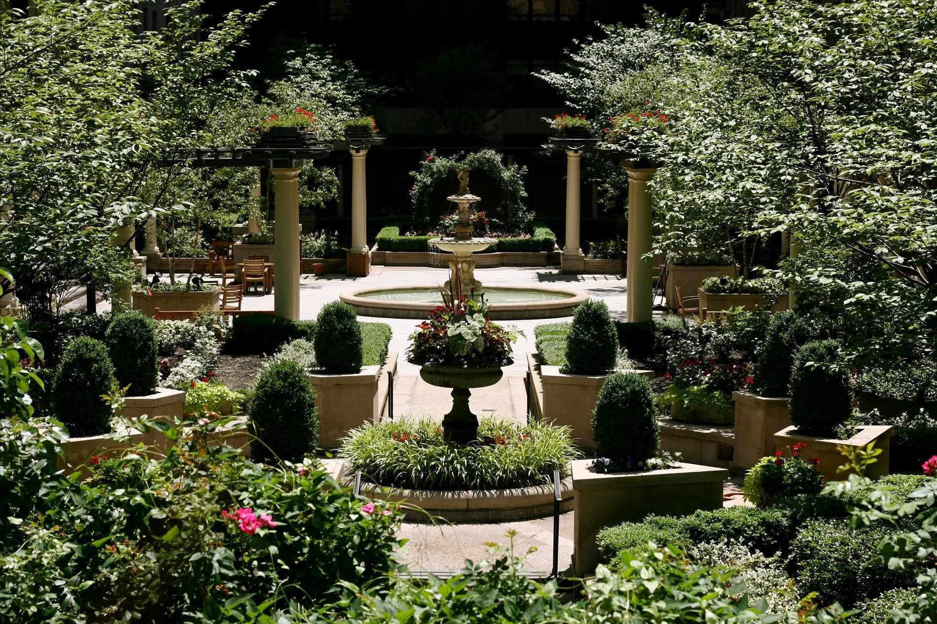 Image of: Courtyard Gardens Design Ideas