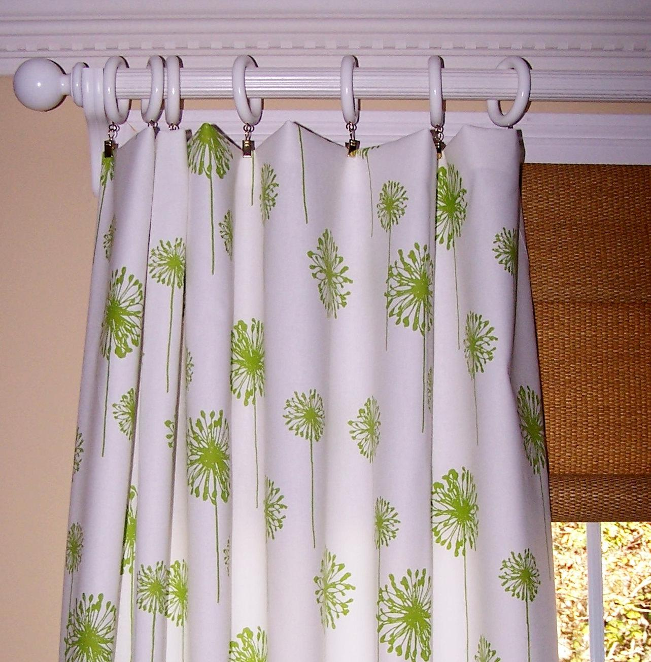 Image of: Dark Green And White Curtains